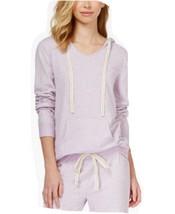 Alfani Hooded Pajama Top in Lilac Conefetti, Size Medium - $19.79