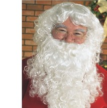Christmas - Santa Claus Beard & Wig - Standard - Adult White St. Nick Pe... - $8.64