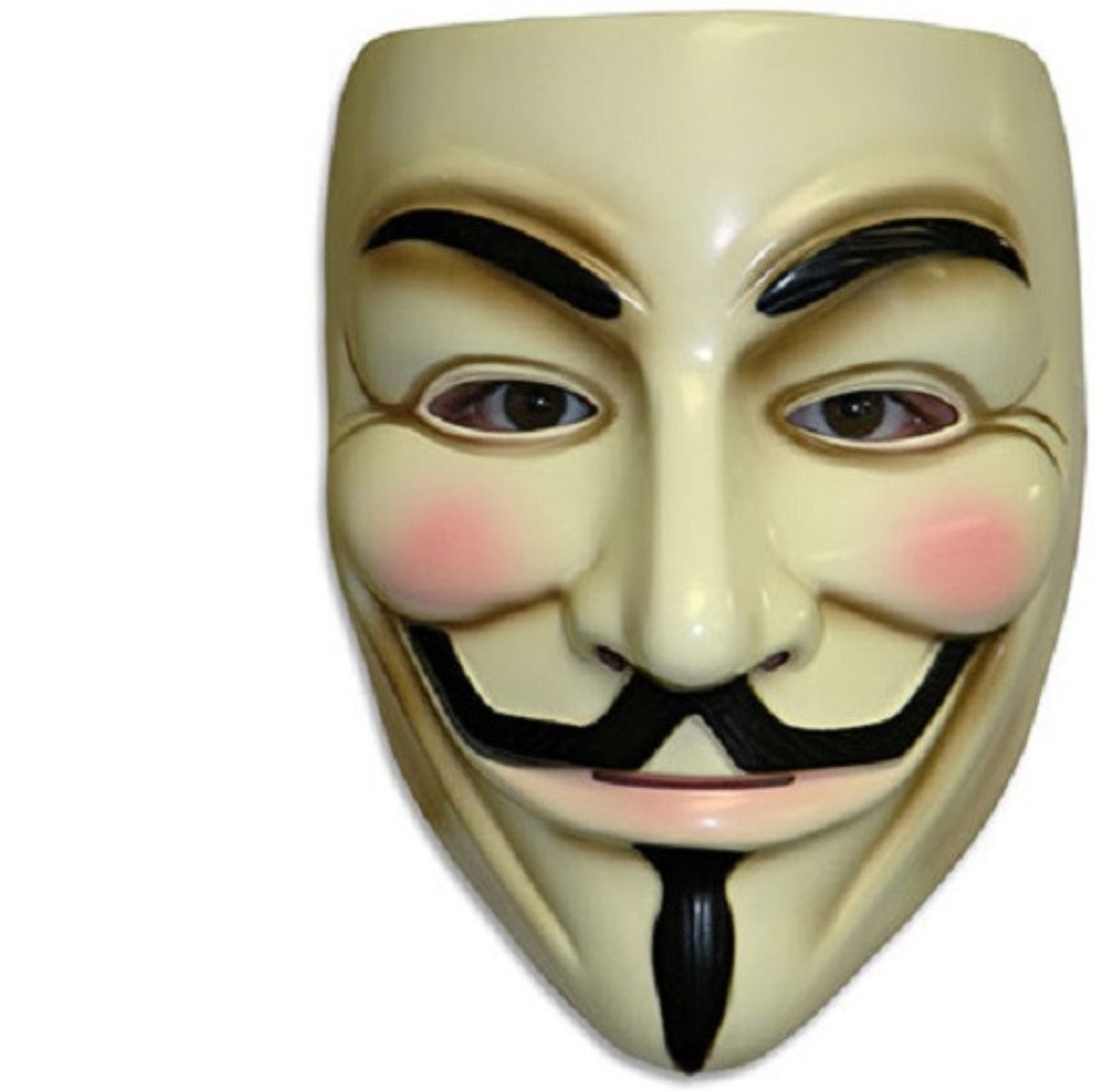 V For Vendetta - Mask - Adult - Guy Fawkes - Anonymous - Costume Accessory