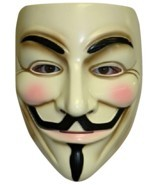 V For Vendetta - Mask - Adult - Guy Fawkes - Anonymous - Costume Accessory - £4.47 GBP