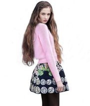 Loose Angora Sweater European Tide Fashion two piece Suit Rabbit Printed... - $15.50