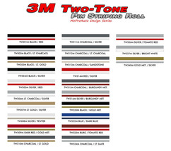 """4/16"""" X 150Ft Roll / 3M Two Color Pinstripe / F... - $44.09"""