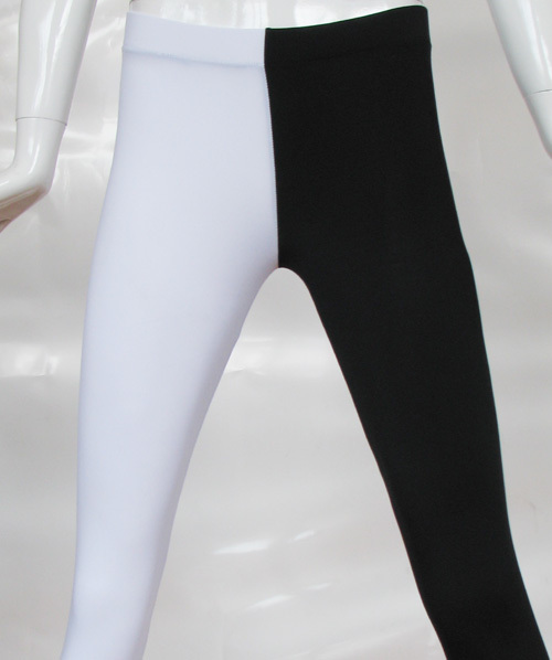 250d6379a30a42 Black and White Nylon Spandex Two Toned Leggings Joker 2 Sided Pants Tights  Pant