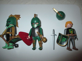 1998 PLAYMOBIL GOEBRA 3 KNIGHT FIGURES - $10.88