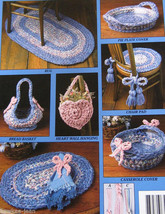 Rag rug crochet pattern: use yarn or fabric for rugs placemats chairpads... - $10.40