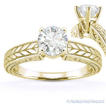 Forever Brilliant Round Cut Moissanite 14k Yellow Gold Solitaire Engagement Ring - €605,83 EUR - €1.716,54 EUR