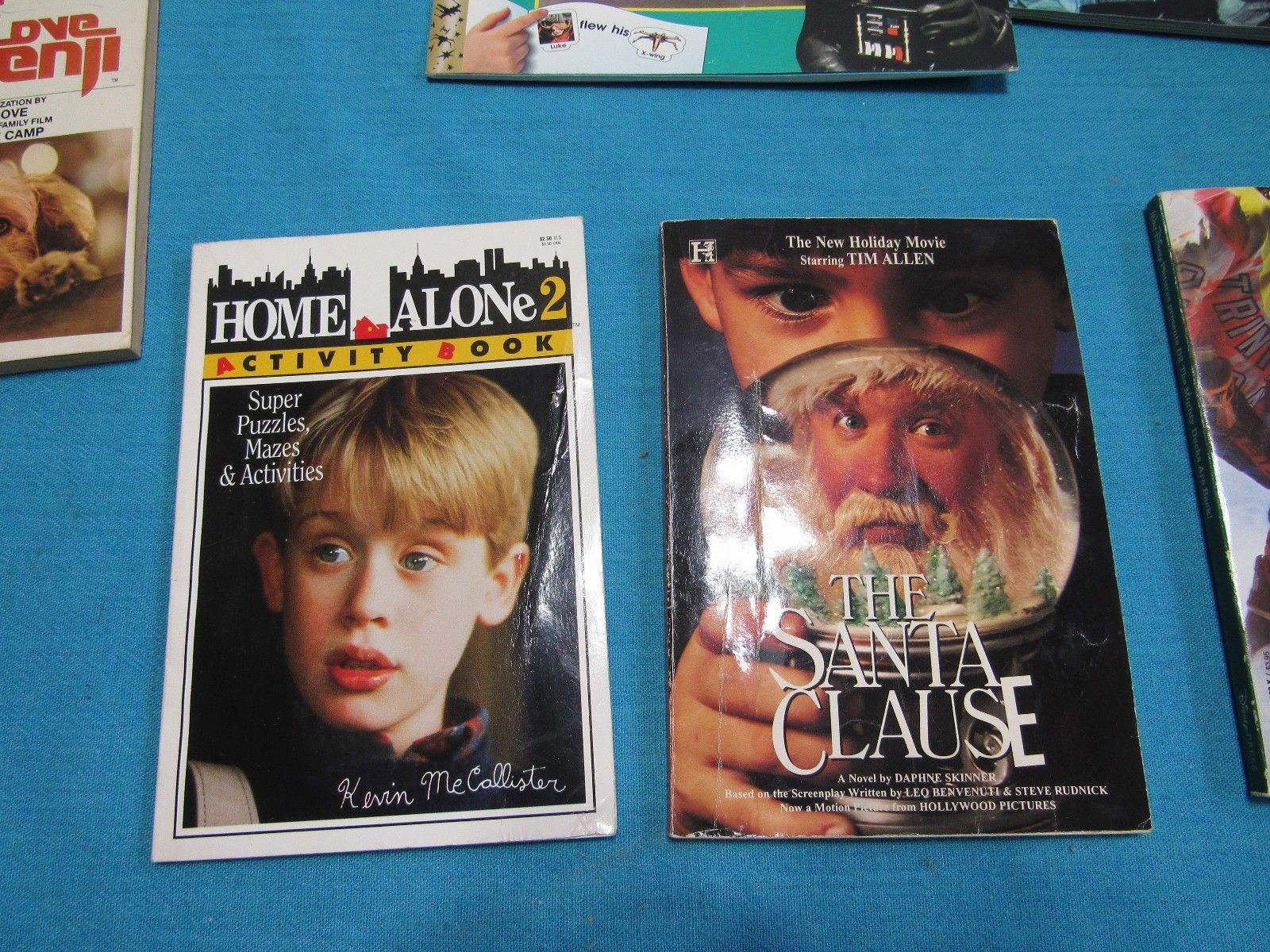 7 Movie Book Lot: Star Wars Batman Benji Home Alone Santa Clause Mighty Ducks +