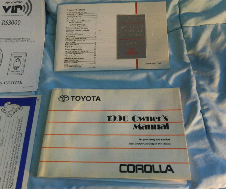 Toyota Corolla Repair Manual: Components