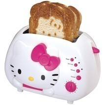 NEW Sanrio Hello Kitty 2 Slice Wide Slot Bread Toaster with Cool Touch E... - $63.96 CAD
