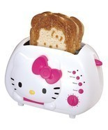 NEW Sanrio Hello Kitty 2 Slice Wide Slot Bread Toaster with Cool Touch E... - €43,05 EUR