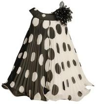 Black White Crystal Pleat Positive Negative Dot Dress BK2TW,Bonnie Jean Todde...