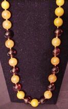 "Vintage Lucite Plastic Large Necklace Unsigned 28"" - $59.95"