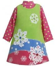 Colorblock Jewel-Snowflake Fleece Jumper Dress Set LM2HABonnie Jean Todders C...
