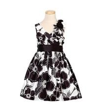 Bonnie Jean Black White Floral Fall Dress Girls 5 [Apparel]