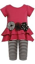 Tiered High-Low Cut Out Heart Dress/Legging Set FU2TW,Bonnie Jean Todders Gir...