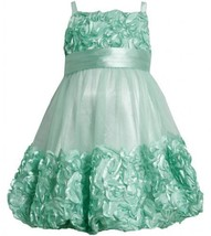 Mint-Green Metallic Bonaz Border Mesh Bubble Dress MI3BU, Mint, Bonnie Jean L...