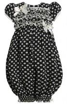 Ruffle Bodice Sparkle Dot Print Chiffon Romper/Jumpsuit BW2HA Bonnie Jean Tod...