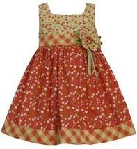 Orange Yellow Multi Mini Field Floral Print Dress OR2HA, Orange, Bonnie Jean ...