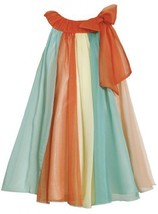 Orange Multi Colorblock Panel Chiffon Trapeze Dress AQ3SP, Orange, Bonnie Jea...