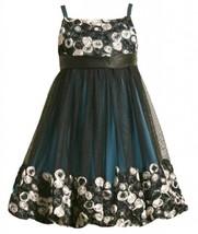 Size-6X, Teal, BNJ-1832B, Teal Bonaz Border Mesh Overlay Bubble Dress,Bonnie ...