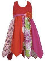 Fuchsia Lace to Colorblock Print Hanky Hem Knit Halter Dress FU3SA, Fuchsia, ...