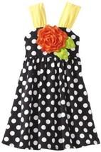 Bonnie Jean Girls 2-6X Dot Knit Sundress (3T, Black) [Apparel]