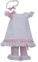 Bonnie Jean Girls Eyelet Spring Dress, Headband & Legging Outfit, 6-9M [Apparel]