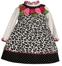 Size-24M BNJ-4554 Leopard Print Rosette Neckline Corduroy Jumper Dress,B14554... - $33.26