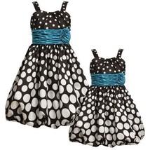 Size-4 BNJ-5552B BLACK WHITE GRADIENT DOT PRINT SHANTUNG BUBBLE Special Occas...