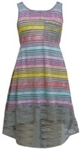 Grey Multi Watercolor Ombre Knit and Lace High Low Dress GY3NA, Grey, Bonnie ...
