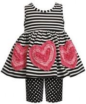 Size-3/6M, Black/White, BNJ-2397M, 2-Piece Black/White Stripes and Dots Bonaz...