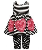 Size-3T, Black/White, BNJ-2397M, 2-Piece Black/White Stripes and Dots Bonaz H...