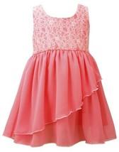 Coral Floral Burnout To Side-Wrap Chiffon High Low Dress CO2BU, Coral, Bonnie...