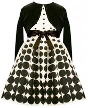 Gradient Dot Print Shantung Dress / Jacket Set BW6FV,Bonnie Jean Girls Specia...
