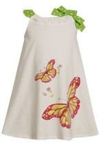 Size-2T BNJ-3198M WHITE KNIT PULL-THRU NECKLINE SEQUIN BUTTERFLY SCREENPRINT ...