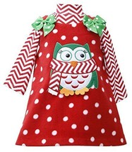 Bonnie Jean Christmas Holiday Owl Fleece Jumper Set (12 Months) [Apparel]