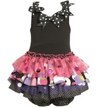 Size-3/6M, Fuchsia, BNJ-5212B 2-Piece Knit Bodice to Drop Waist Tiered Mix-Pr...
