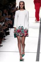 Women Europe Autumn 3/4 Sleeve OL evening dress mini dress Loose Slim Pl... - $12.50