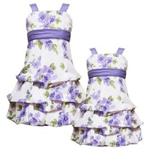 Size 2 T Rre 53242 E Purple Floral Print Pickup Bubble Skirt Special Occasion W... - $41.58