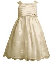 Bonnie Jean Girls 2-6x Embroidered Dress, Ivory, 6 [Apparel]