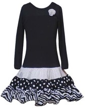Rare Editions Girls 2-6x Multi Print Skirt (2T, Black) - $36.04