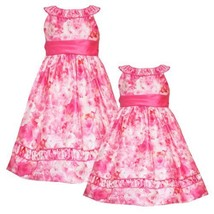 Size-5,RRE-39681E CORAL-PEACH 'Water-Color-Roses' PRINT SHANTUNG Special Occa...