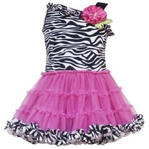 Size-6M RRE-4624S FUCHSIA-PINK BLACK WHITE Zebra Animal Print Asymmetric... - $33.26