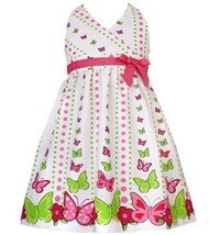 Size-6 RRE-46942S, Pink and Green Butterfly Border Print Halter Dress, Rare E... - $30.29