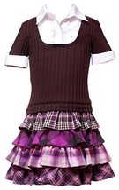 Rare Editions Girl's 4-16 Four Tier Short Sleeve Sweater Dress (4, Brown) - $35.84