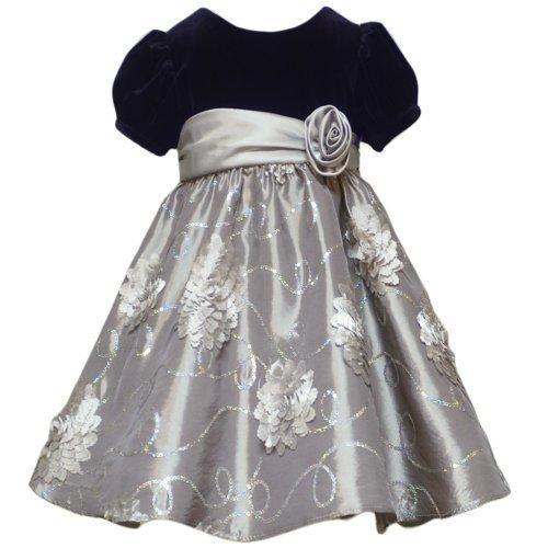 Rare Editions Christmas Dresses.Rare Editions Black Silver Velvet Floral Christmas Dress Girls 3t Apparel
