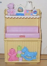 LOVING FAMILY DOLLHOUSE FISHER PRICE LIGHT SOUNDS NURSERY CHANGING TABLE - $9.50