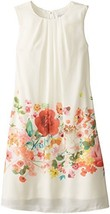 Blush by Us Angels Big Girls' Sleeveless Trapeze Dress with Border Print, Ivo...