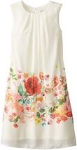 Blush by Us Angels Big Girls' Sleeveless Trapeze Dress with Border Print, Ivo...