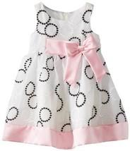 Bonnie Jean Little Girls' Embroidered Circle Dress, Black/White, 2T [Apparel]